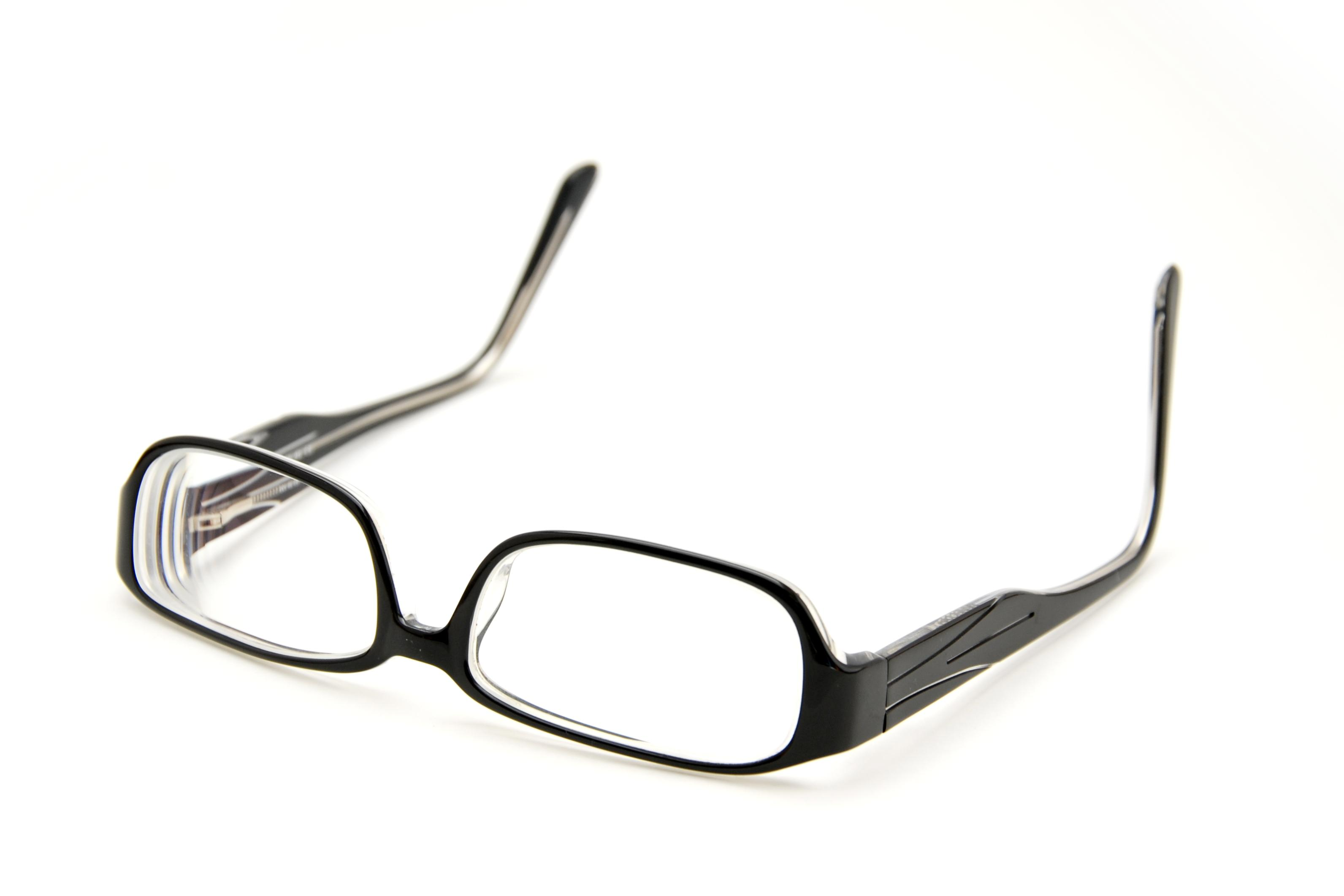 eyeglasses on white